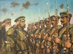 Строй георгиевский кавалеров перед Государем Императором Николаем II