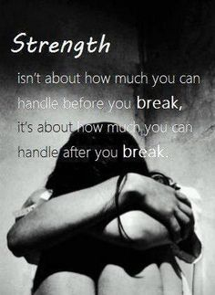 Trying to stay strong and keep going after you've hit your breaking point...