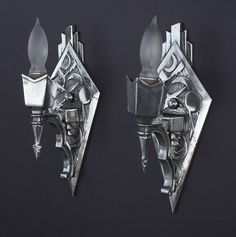 Art Deco Sconces | Vintagelights.com | Highly polished alumi… | Flickr - Photo Sharing!