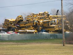Attention all school bus drivers. We understand that you are anxious to start your summer vacation, but after your last run, please observe proper parking procedures to avoid last year's debacle. Thank you.