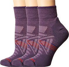 Smartwool Women's PhD Outdoor Light Mini 3-Pack Desert Purple Socks MD (Women's Shoe 7-9.5