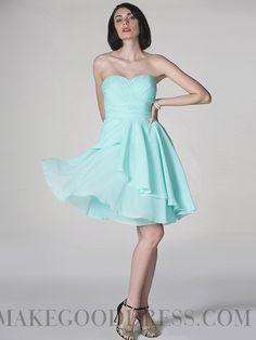 Classy A-line Sweetheart Short / Mini Chiffon Bridesmaid Dresses with Ruffles