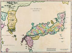 Map of Japan Joan Blaeu c 1655