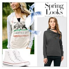 """""""Weal feel I/35"""" by a-camdzic ❤ liked on Polyvore featuring California Love, Converse and H&M"""