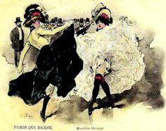 Moulin Rouge French Cancan | Série de pages sur le French Cancan Moulin Rouge Dancers, Moulin Rouge Paris, Le Moulin, Cabaret, Ap European History, This Girl Can, Partner Dance, History Projects, Pretty Green