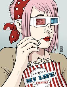 Cserny Timi Pookah_Cinema The Row, Pin Up, My Life, Cinema, Artwork, Anime, Middle, Facebook, Artist