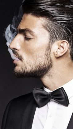 Handsome face structure but he shouldn't smoke!