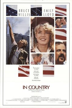 """In Country 1989 Authentic 27"""" x 41"""" Original Movie Poster Fine, Very Fine Bruce Willis War U.S. One Sheet"""