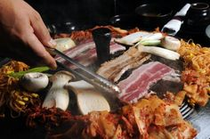Pork belly slices from Honey Pig. #AJCWheretoEat #Atlanta #Food #Restaurants