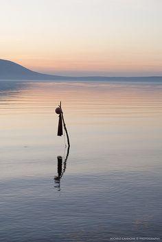 Sunset on Varano Lake (Italy)