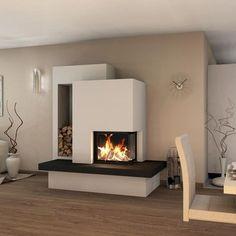 Spartherm Arte Kamineinsatz - Kaminbausatz room ideas with fireplace Fireplace Kits, Fireplace Inserts, Modern Fireplace, Living Room With Fireplace, Fireplace Design, Home Living Room, Living Room Decor, Dining Room, Fireplaces
