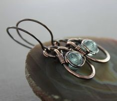 Hey, I found this really awesome Etsy listing at https://www.etsy.com/uk/listing/77010651/copper-dangle-earrings-with-eye-shaped