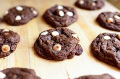 Double Chocolate + White Chocolate Chip Cookies by Ree Drummond / The Pioneer Woman