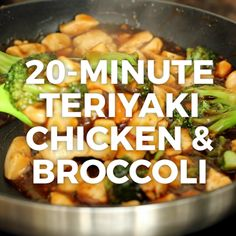 This easy teriyaki chicken and broccoli will soon be a favorite in your house; you'll even want to make the teriyaki sauce for just about anything Chicken Teriyaki Rezept, Healthy Teriyaki Chicken, Chicken Recipes Video, Fried Chicken Recipes, Cooking Recipes, Healthy Recipes, Easy Broccoli Recipes, House Recipe, Food Videos