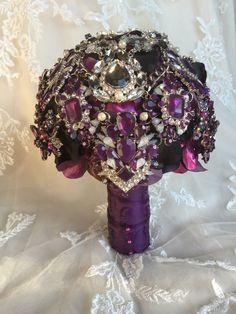 Custom Brooch Bouquet  Wedding Bouquet  by MerryMeBouquets on Etsy