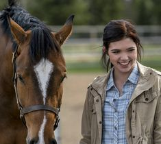 Season 11 behind the scenes of a horse going by the name Flame with Georgie