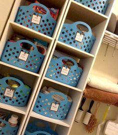 This would be a great way to organize a classroom, kid's bedroom or laundry room.