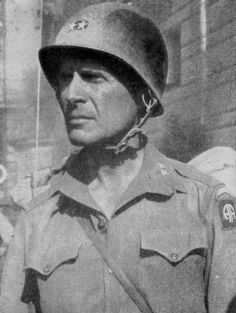 Gen. Matthew Ridgeway, 82nd Airborne in this photo.  Probably most famous for resurrecting the UN effort in Korea, in his command of the US 8th Army.