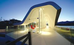 Hongluo Clubhouse in China by MAD Office. Fiberglass Covered Concrete Cantelevers