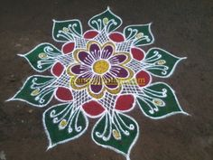 Wonderful flower kolam