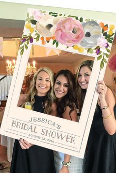 What an awesome idea! This prop will make such fun and memorable pictures! Bridal Shower Photo Prop - Wedding Photo Prop, Floral Photo Prop, Bridal Shower Party Ideas, Wedding Decor, Baby Shower Decor, Photo Booth, Sweet Blooms, DIGITAL FILE, Baby Shower Photo Prop Frame, DIY Photo Booth, DIY Photo Prop, Last Minute Party Planning, Printed Option Available #afflink