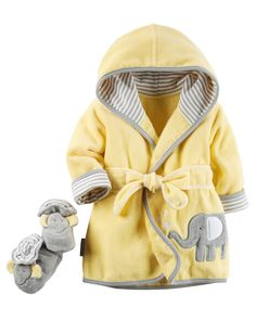 Carter's Elephant Robe and Bootie Set * Find out more details by clicking the image : Baby clothes Baby Boy Outfits, Kids Outfits, Baby Towel, Carters Baby Girl, Baby Gap, Baby Boys, Baby Deer, Camo Baby, Baby Accessories