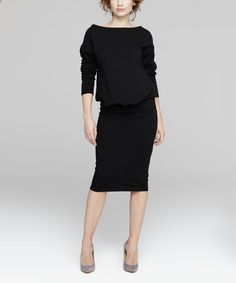 Loving this Black Blouson Dress on #zulily! #zulilyfinds