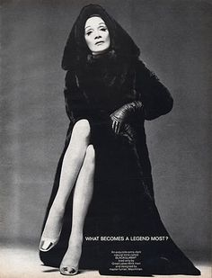 """Marlene Dietrich - Blackglama Mink """"What Becomes A Legend Most?"""" Ad Campaign (1969)."""