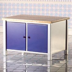 Blue Kitchen Island Unit From dheminis.com