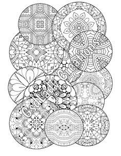 mandala coloring page adult coloring page geometric mandalas zendoodle circle drawing