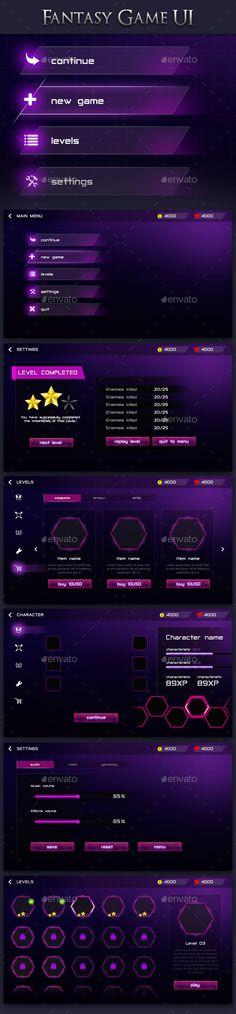 Modern Fantasy Game UI 2 - User Interfaces Game Assets