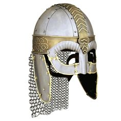 Beowulf receives a helmet in line 1022   http://ep.yimg.com/ay/yhst-42417777999735/beowulf-viking-helmet-4.gif
