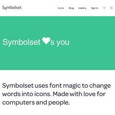 Symbolset - Font icons