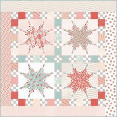 Moda Fabrics Sanctuary 3 Sisters Sanctuary Quilt Kit Fabric Strips, Fabric Squares, Fabric Panels, Half Square Triangles, Twin Quilt, Quilt Sizes, Patch Quilt, Sewing Notions, Quilt Top