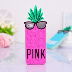 Fashion Victoria Pink 3D Soft Fruit Pineapple Secret Case For iphone 5 case silicone Food For iphone 5 5s Cases Cover