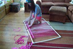 Maiden Jane: PVC rug/weaving frame