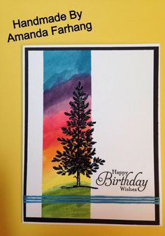 Handmade by Amanda Farhang. Stampin up lovely as a tree