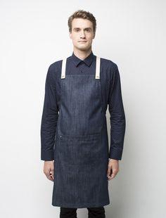 Cargo Crew - Barkly Bib Apron - Indigo Denim - Online Uniform Shop Australia