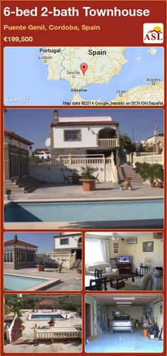 Townhouse for Sale in Puente Genil, Cordoba, Spain with 6 bedrooms, 2 bathrooms - A Spanish Life Portugal, Cordoba Spain, Central Heating, Double Bedroom, Fruit Trees, Malaga, Train Station, Granada, Townhouse