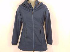 OAKLEY Full Zip Hooded Jacket ~ Wind Stopper Resistent Blue MSRP $150 #Oakley #Windbreaker