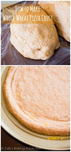 Exactly how I make Whole Wheat Pizza Crust that actually tastes good. Recipe at sallysbakingaddiction.com