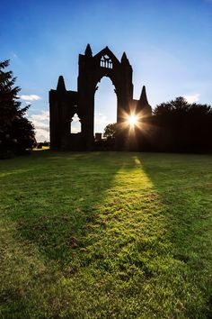 Guisborough Priory at sunset. Grand Tour, North Yorkshire, Tower Bridge, Homeland, Family History, Decay, Castle, Around The Worlds, Tours