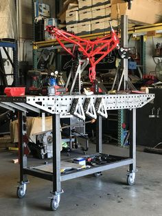plans for welding table Welding Table Diy, Welding Cart, Welding Tips, Metal Projects, Welding Projects, Welding And Fabrication, Welding Training, Table Frame, Metal Shop