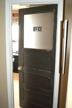 Interior Office Door very rough rustic vintage office door i picked. it'll look great