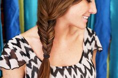 We love the look of fishtail braids! This trend is incredibly easy to style, even on your own hair. Kinsey and I photographed the steps so you can try it out for yourself... Here's how to style a fishtail braid... 1. Part your hair into two even sections. 2. Take a small strand of hair (preferably from underneath so that it wraps around the entire seciton) from one section and...