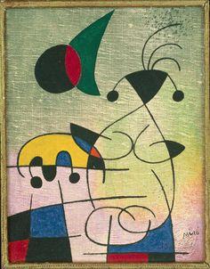 Joan Miró | L'étreinte du soleil à l'amoureuse (The Sun Embracing the Lover) (1952)