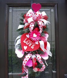 Valentine Wreath Valentine's Day Door Wreath
