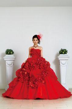 Liliale, ballgown, Wedding, dress, gown, wedding dress, weddingdress, bride, red.