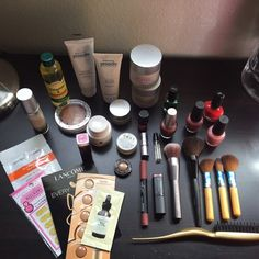 🎀 Skincare/ Makeup Bundle 🎀 So this includes skincare from Vivitè - 2 Night Renewal Facial Creams, Revitalizing Eye Cream & the Daily Antioxidant Facial Serum, BeautiControl - Lip Apeel, Proactiv - Oil Free Moisturizer & the Clarifying Night Cream. Nail polishes are O.P.I which are in DS Opulence, Italian Love Affair, & Shanghai Shimmer. The makeup brushes are from Urban Decay, EcoTools, & MaryKay. There is so much more to list but If u have any ?s bout anything jus ask (◕ᴗ◕✿) I'm open to…