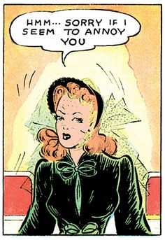 Panel from a Brenda Starr Reporter comic strip, published by The Chicago Tribune, United States, 1940, by Dale Messick.